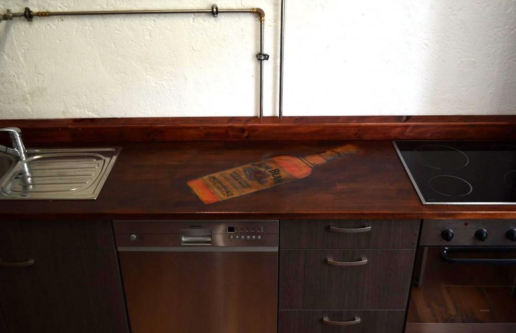 Küchenarbeitsplatte bedruckt