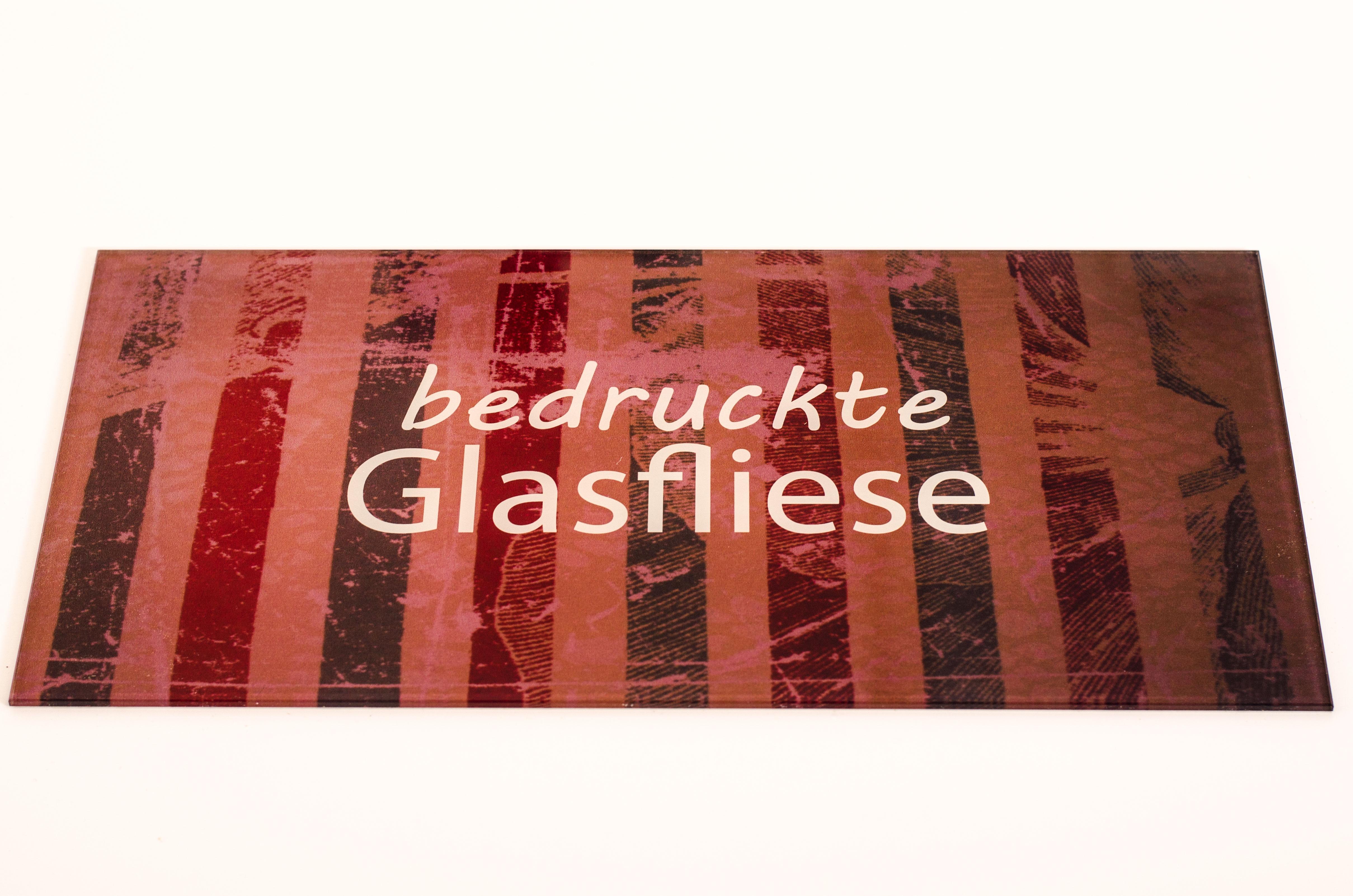 bedruckte Glasfliese