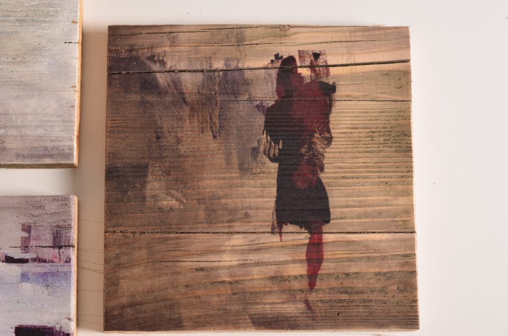 Kunstreproduktion auf Holz