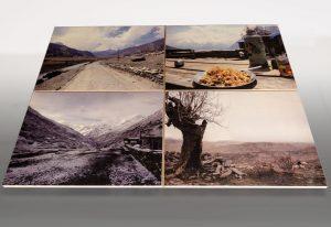 Vier Holzbilder