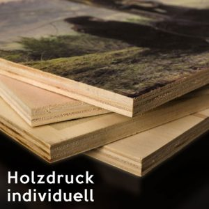 bedrucktes Holzbild