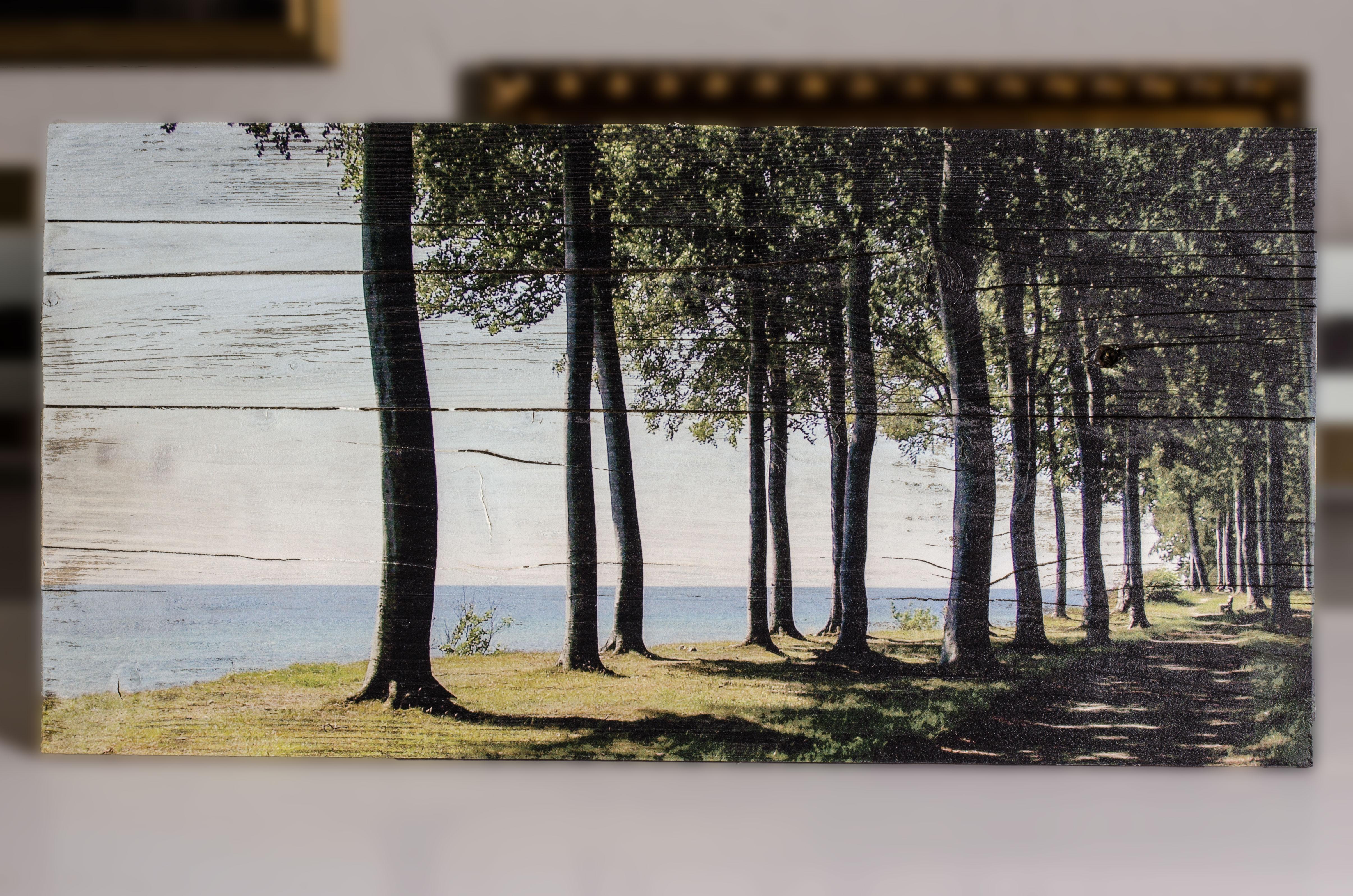 Holzdruck in Lattenoptik