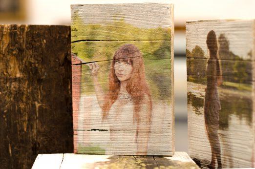 Portrait auf Holz