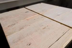 vier Holzplatten