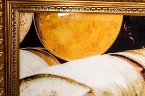 bedruckte Glassscheibe