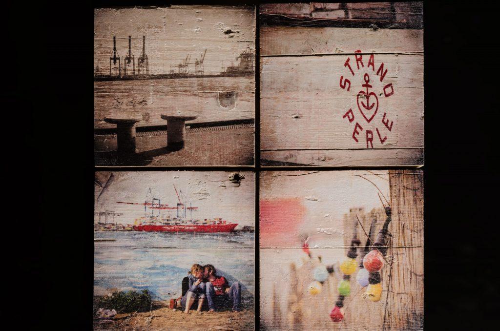 Collage aus Holz