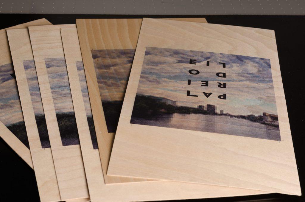 bedrucktes Holzfurnier