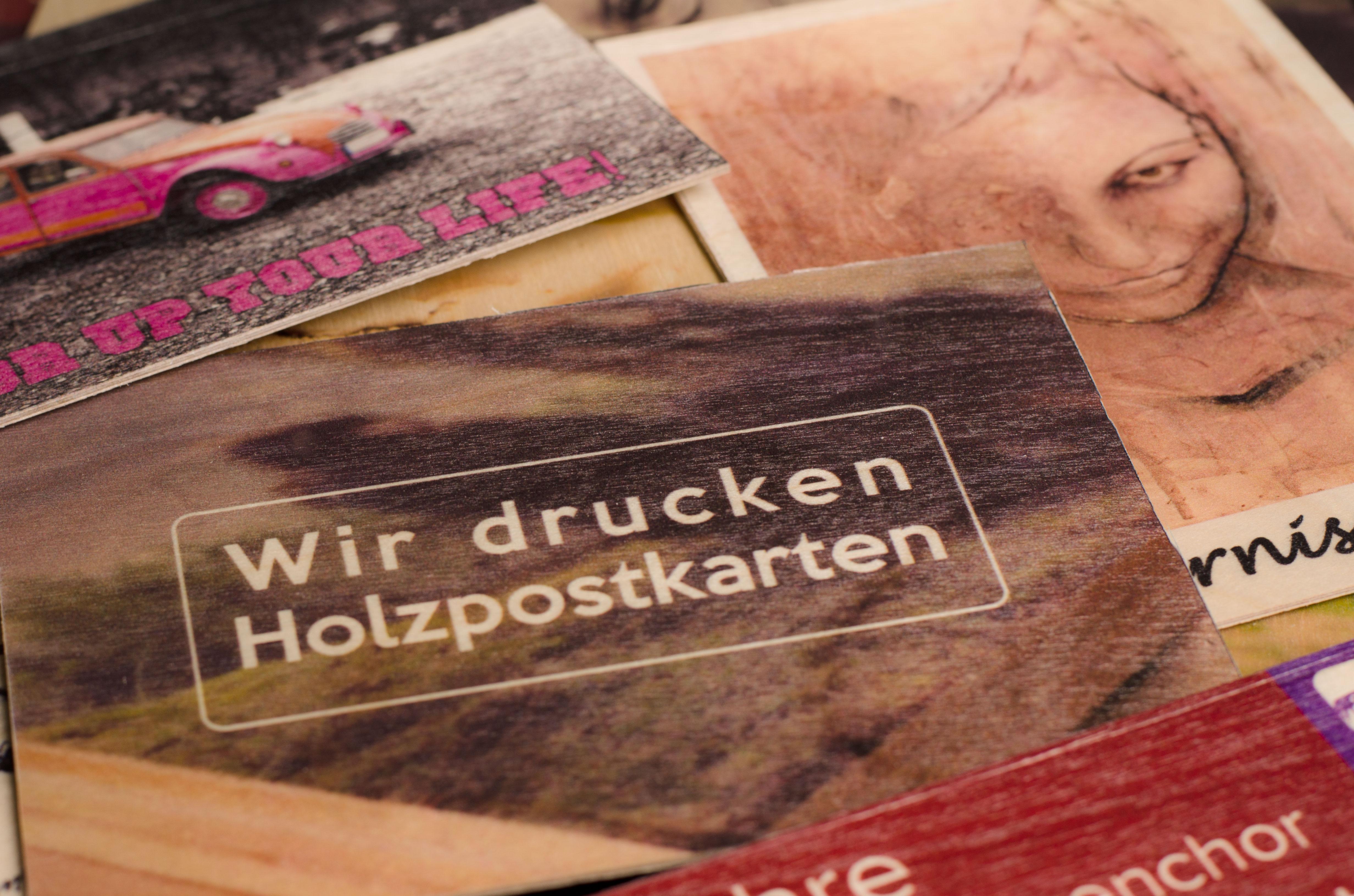 Druck auf Holz Individuelle Postkarten aus Holz