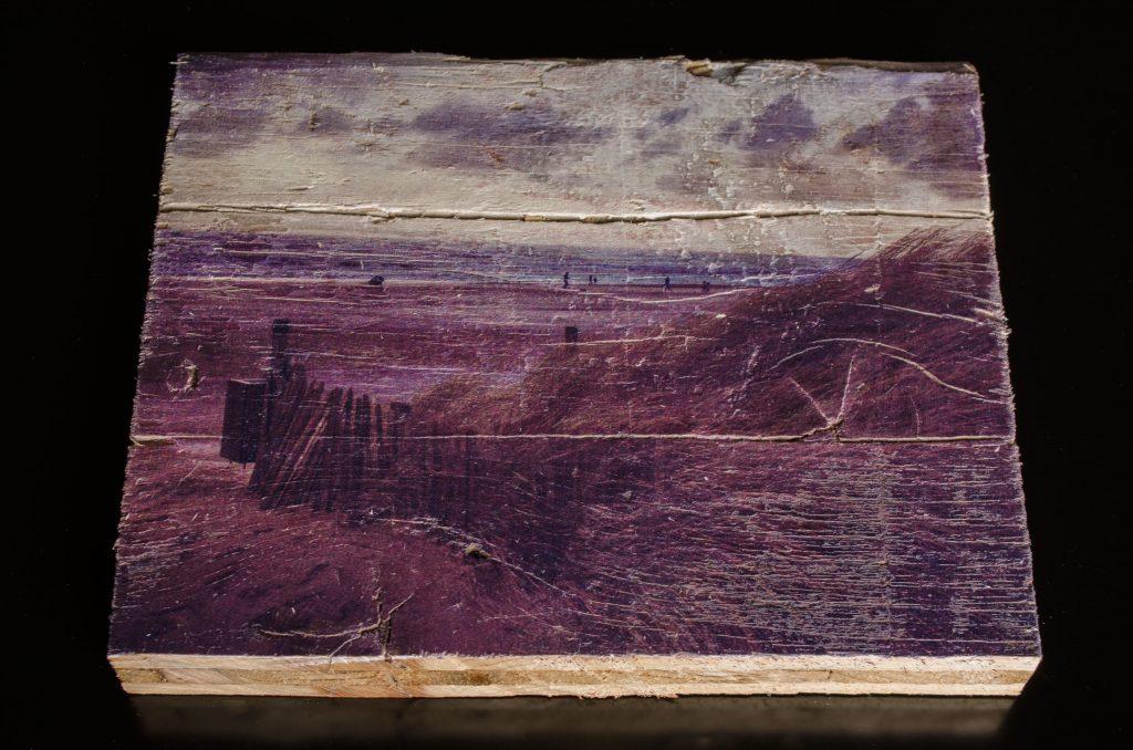 Dünen auf Holz gedruckt