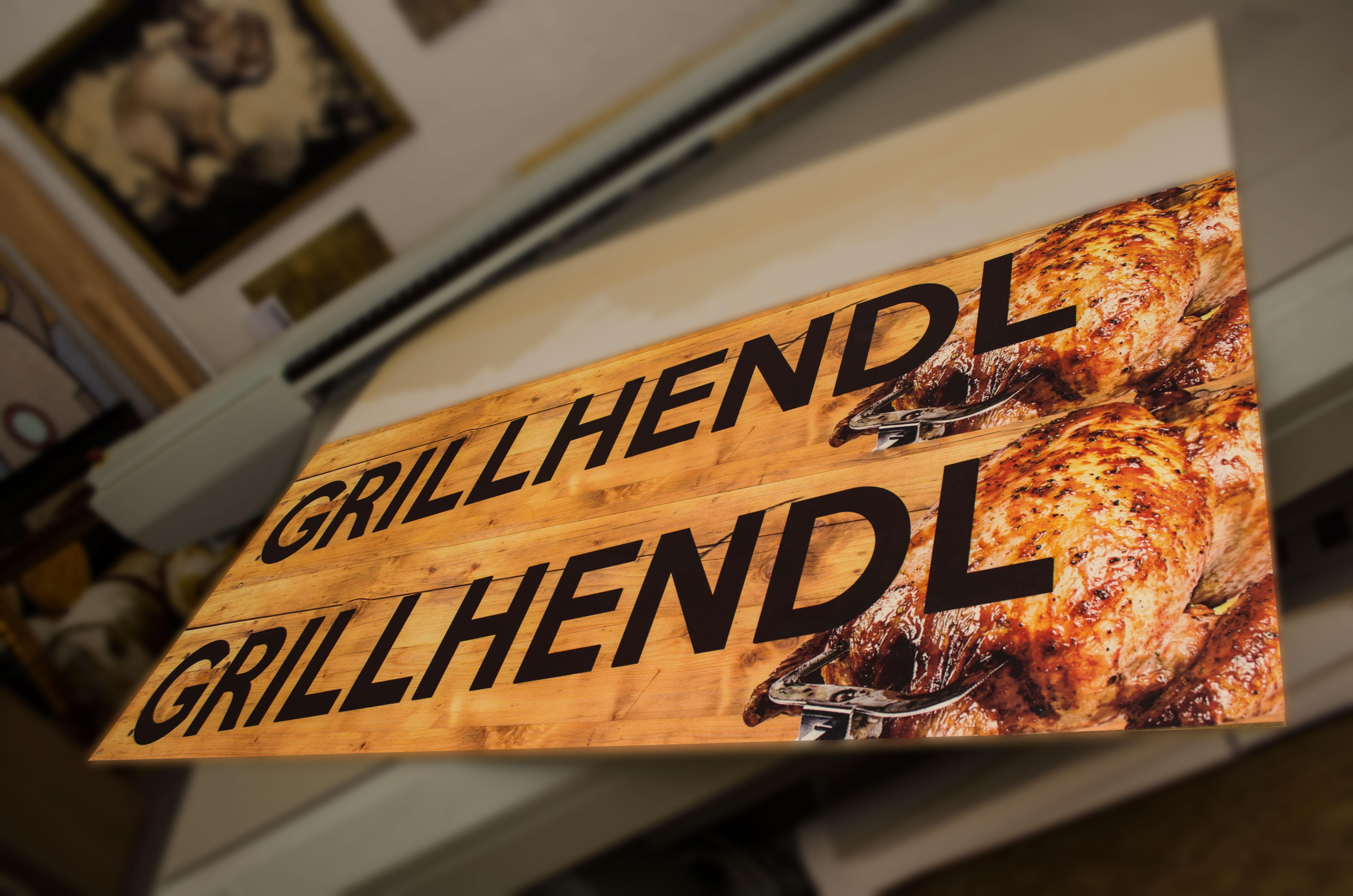 Werbeschilder aus Holz
