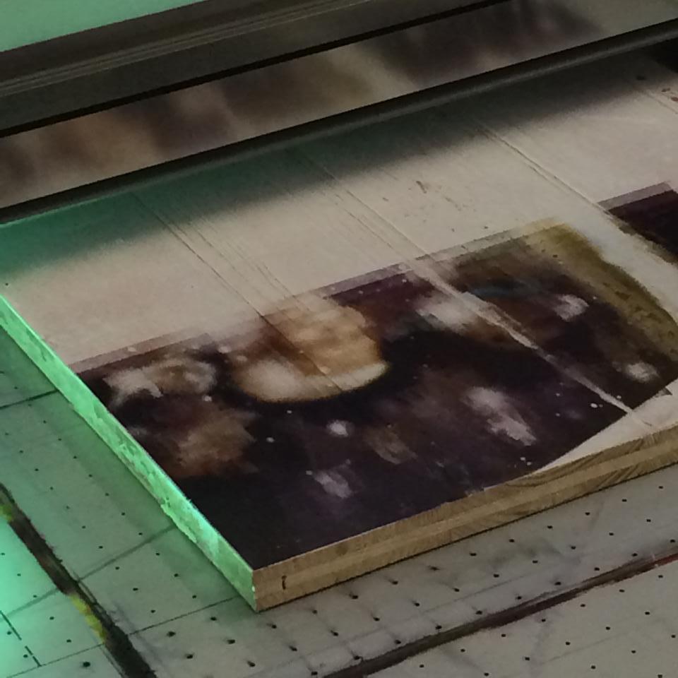 Holzdruck bei der Arbeit