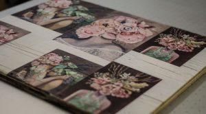 Bilder auf Holz gedruckt