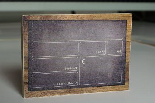 Presiauszeichnungsschilder Holz