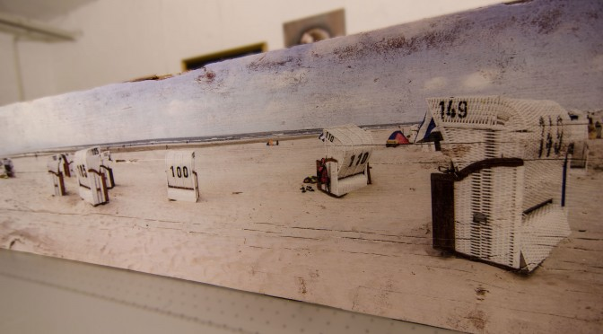 Panorama auf Vintage-Holz
