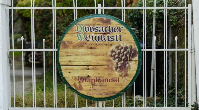 Weinfassdeckel mit Bedruckung