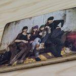 Fotogeschenk auf Holz