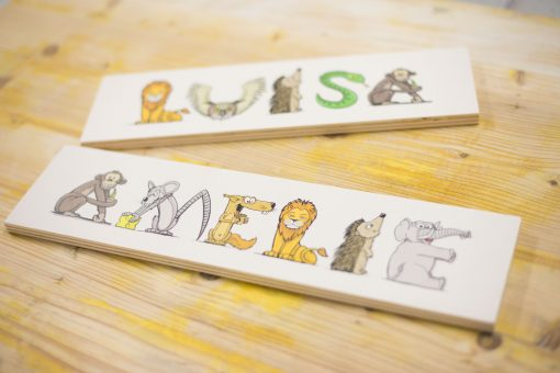 Namensschild aus Holz