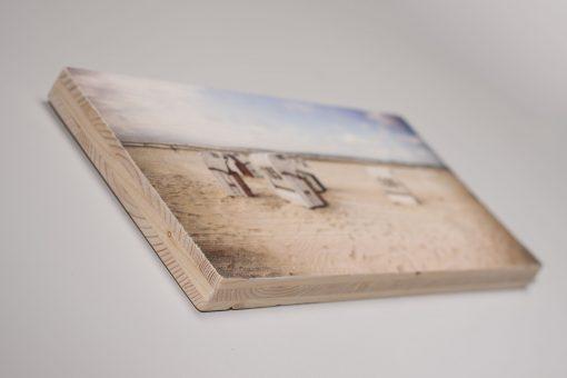 Holzdruck in Seitenansicht