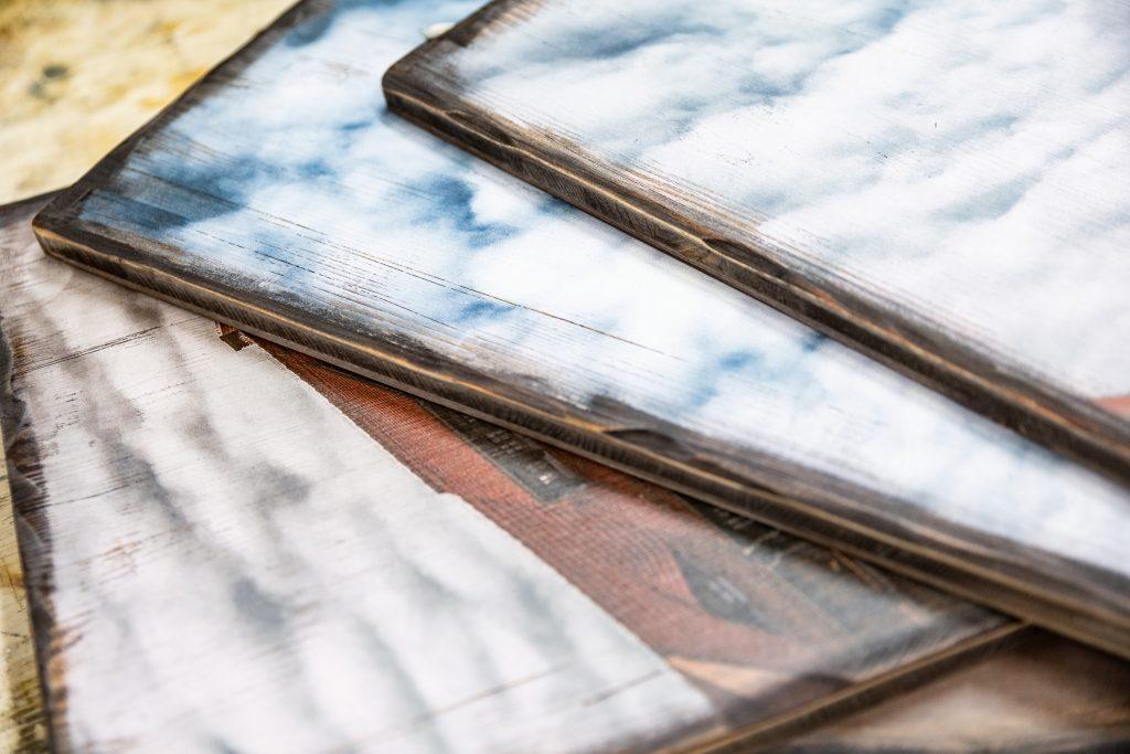 Bilderdruck auf Vintage-Holz