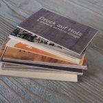 Holzvisitenkarten Stapel