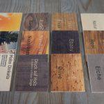 Bildmotiv auf Holzvisitenkarte