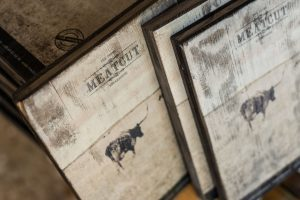 Bedruckte Holztafeln
