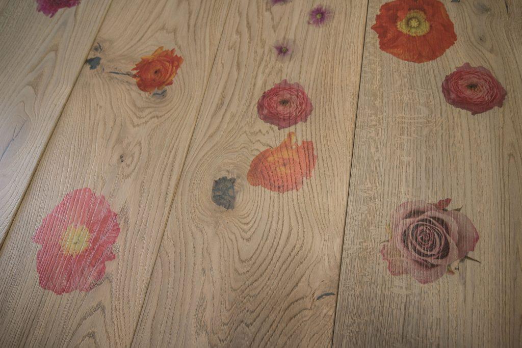 Fotodruck auf Holzfussboden