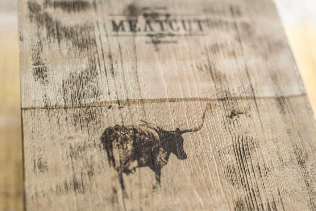 Detailansicht Holzdruck