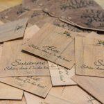 bedruckte Holzkarten