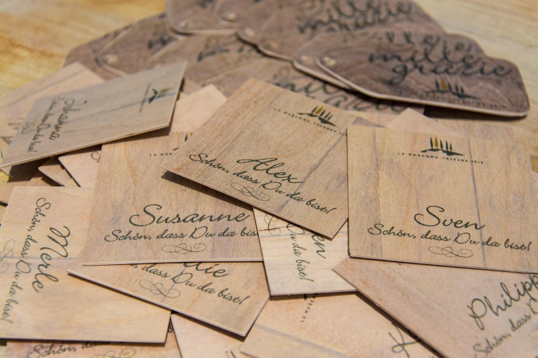 Perfekt Bedruckte Holzkarten