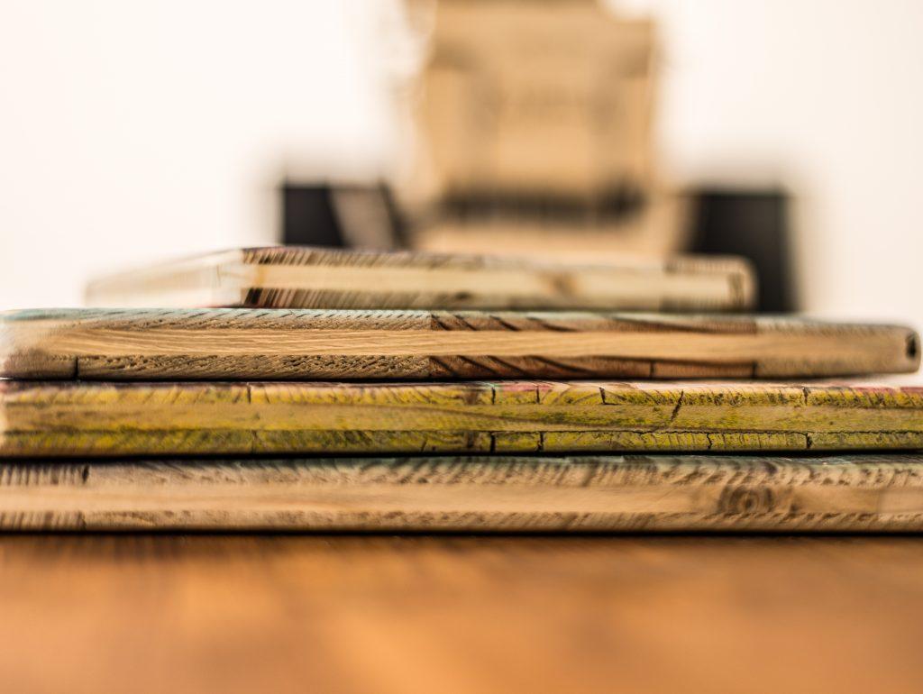 Holzdruck Seitenansicht