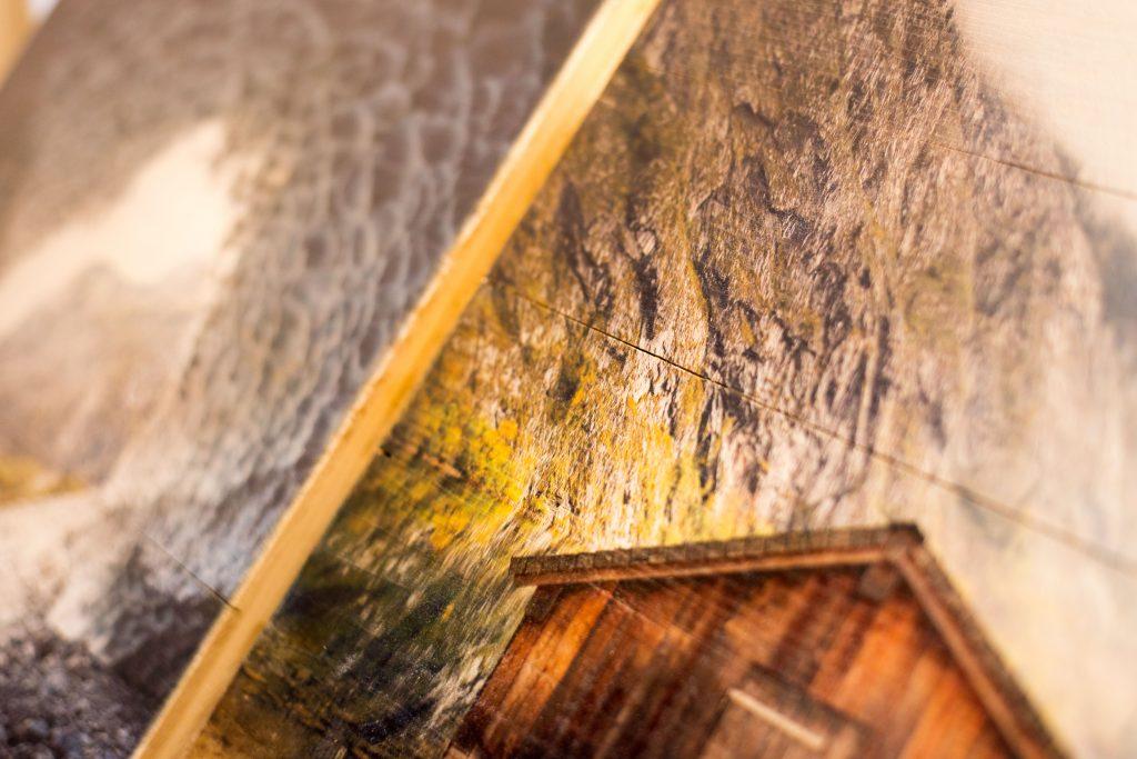 Druck auf Vintage-Holz