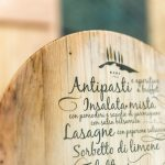 Menükarte aus Holz