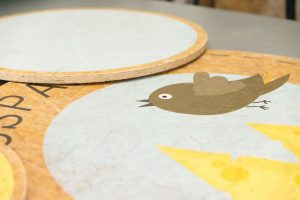 OSB Platten mit Rundschnitt