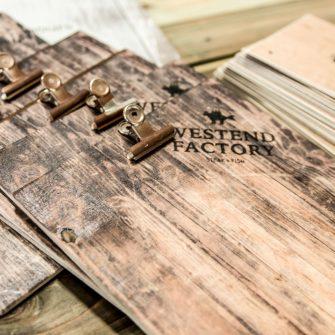 Klemmbretter aus Echtholz