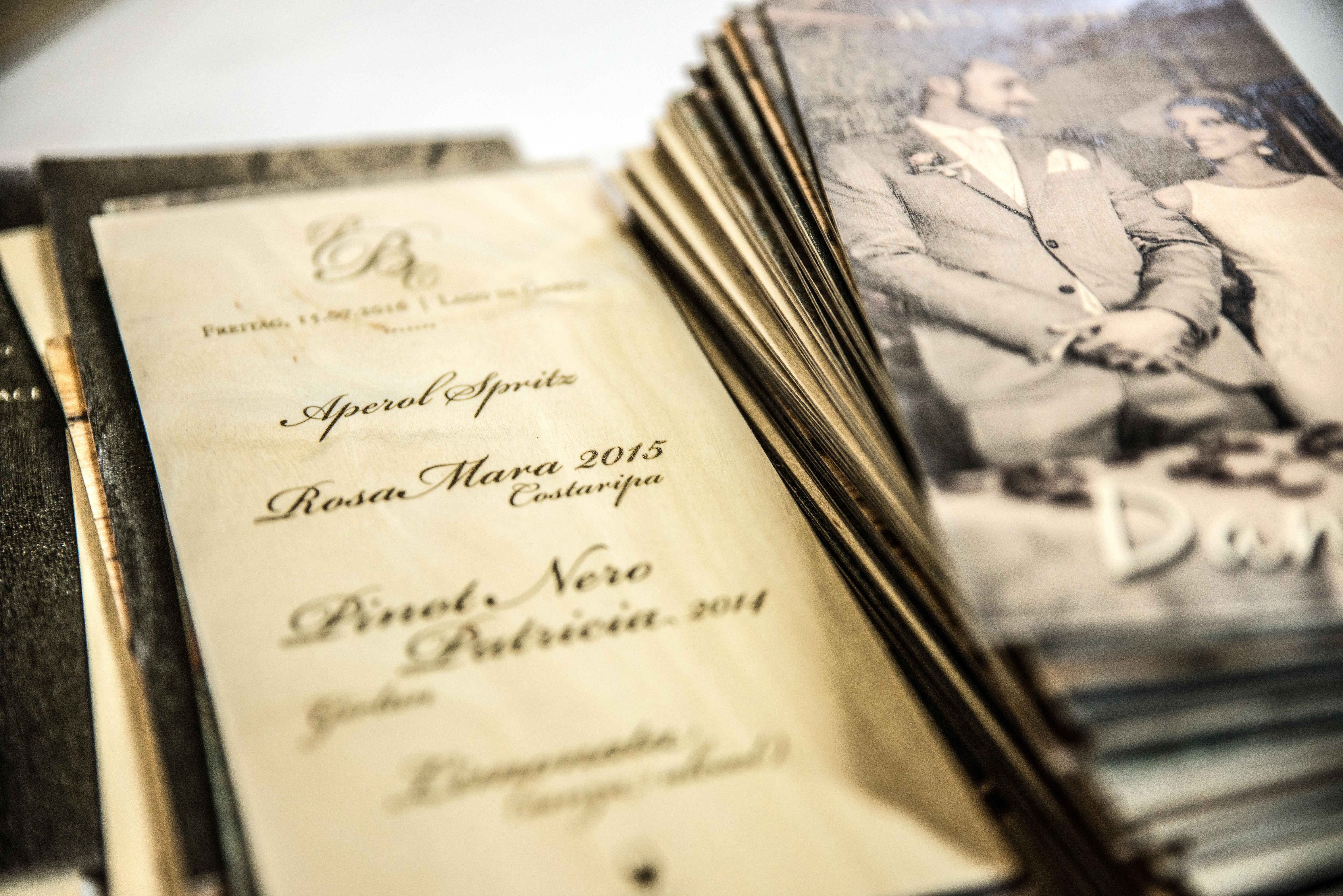 Hochzeitskarten Aus Holz Druck Auf Holz
