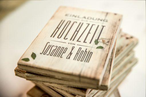 Hochzeitseinladung im Postkartenformat