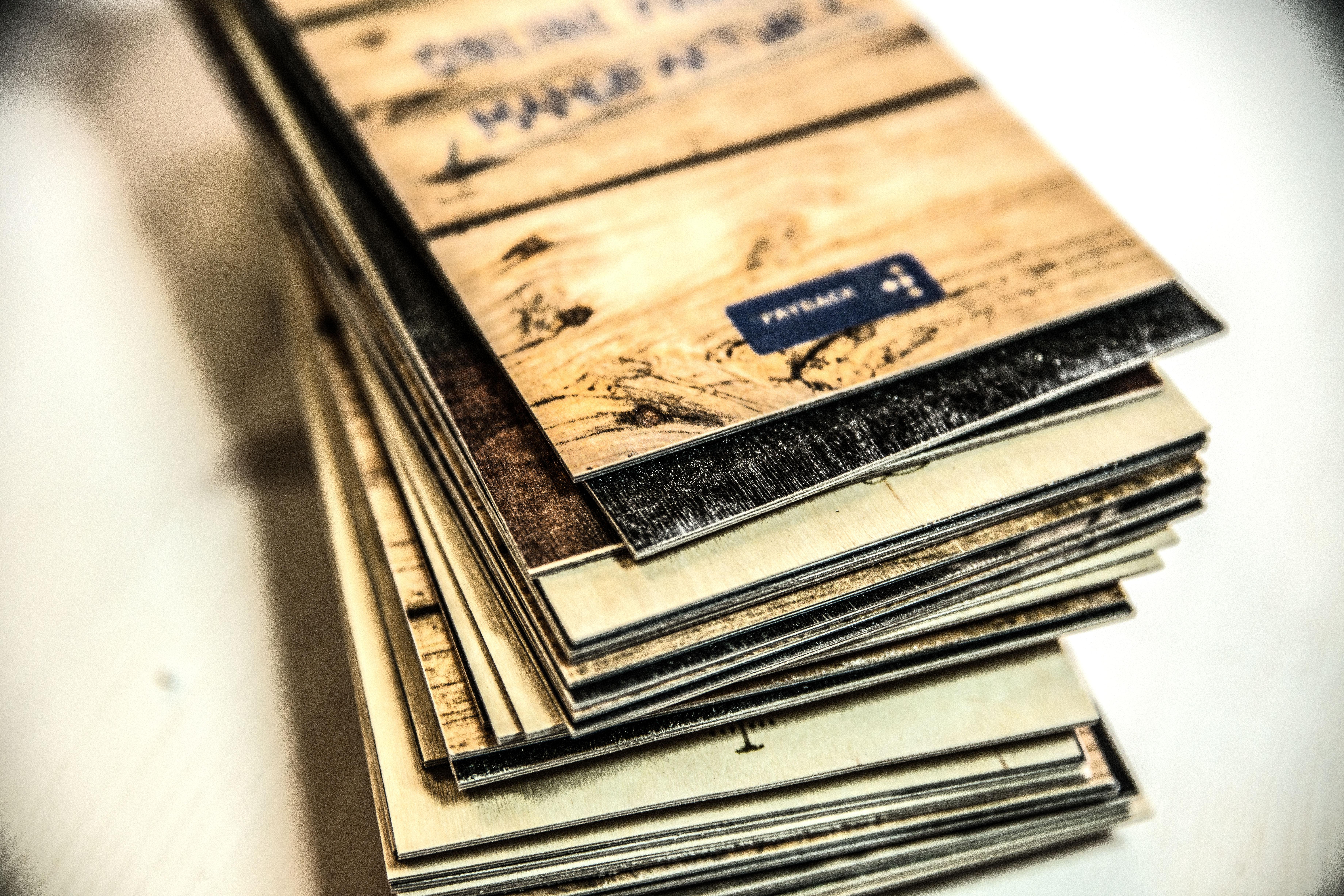 Holzkarten