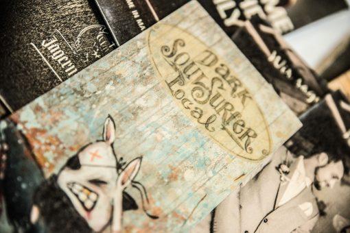 Künstlerkarten gedruckt auf Holz