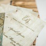 Weinkarte aus Holz