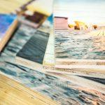 Holzdrucke als Collage