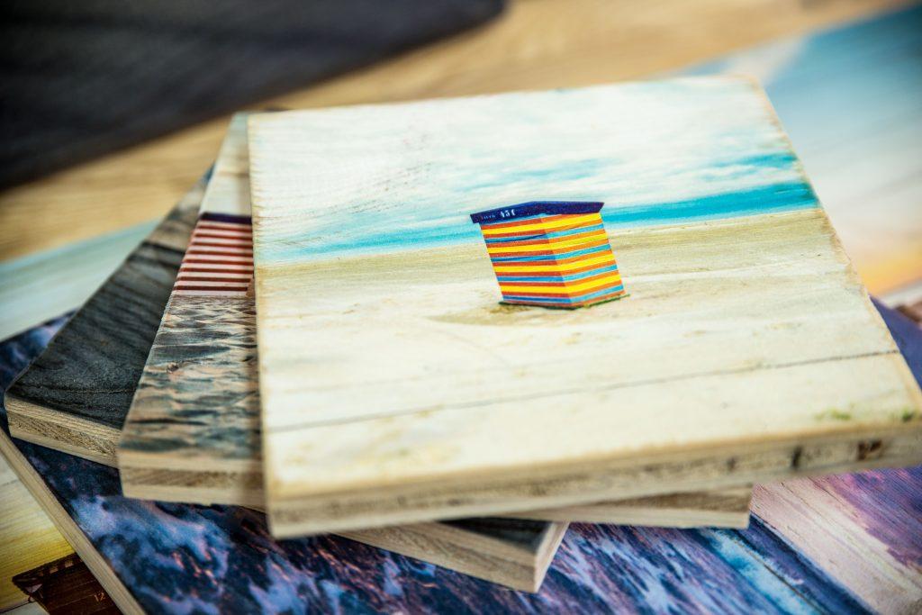 Vintage-Holz mit Fotodruck