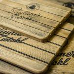 Bierkistenauflagen aus Holz