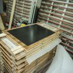 Kundenstopper aus Holz für Lammsbräu