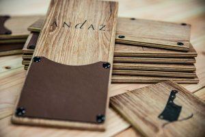 Rechnungsmappe aus Holz