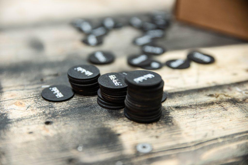 Wertmarken aus Holz