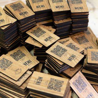QR-Code Karten aus Holz