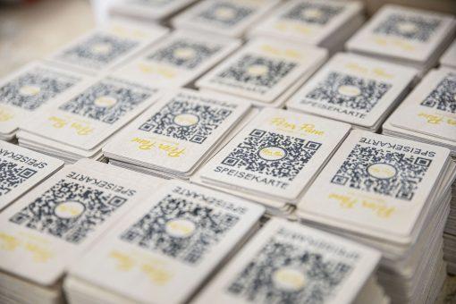 QR-Code - Karten aus Birkenholz