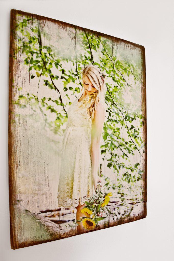 Holzdruck Hochzeitsmotive