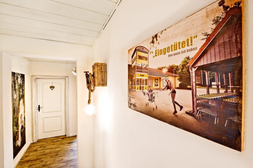 Holzdruck in Flur-Interieur